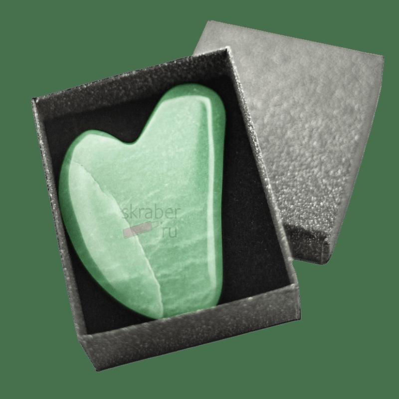 Скребок Гуаша Зеленый авантюрин